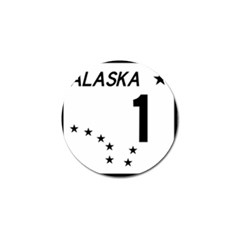 Alaska Route 1 Shield Golf Ball Marker (10 Pack) by abbeyz71
