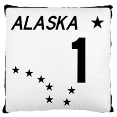 Alaska Route 1 Shield Large Flano Cushion Case (two Sides) by abbeyz71