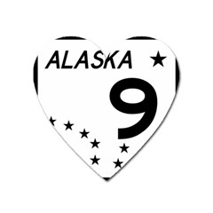 Alaska Route 9 Shield Heart Magnet by abbeyz71