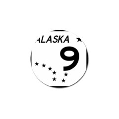 Alaska Route 9 Shield Golf Ball Marker (10 Pack) by abbeyz71