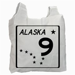 Alaska Route 9 Shield Recycle Bag (two Side) by abbeyz71