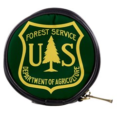 Flag Of The U S  Forest Service Mini Makeup Bag by abbeyz71