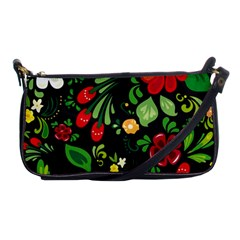 Khokhloma Shoulder Clutch Bag by goljakoff