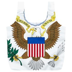 Greater Coat Of Arms Of The United States Full Print Recycle Bag (xl) by abbeyz71