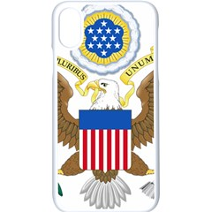 Greater Coat Of Arms Of The United States Iphone X Seamless Case (white) by abbeyz71