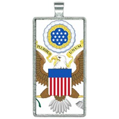 Greater Coat Of Arms Of The United States Rectangle Necklace by abbeyz71