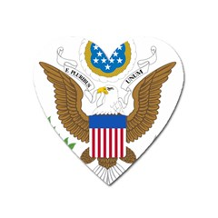 Greater Coat Of Arms Of The United States Heart Magnet by abbeyz71