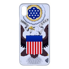Greater Coat Of Arms Of The United States Iphone Xs Max Seamless Case (white) by abbeyz71