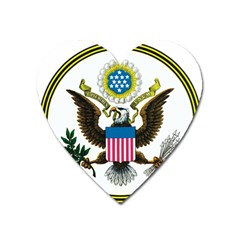 Great Seal Of The United States - Obverse  Heart Magnet by abbeyz71