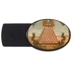 Great Seal Of The United States - Reverse Usb Flash Drive Oval (4 Gb) by abbeyz71