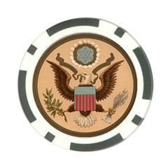 Great Seal Of The United States - Obverse Poker Chip Card Guard (10 Pack) by abbeyz71