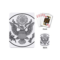 Black & White Great Seal Of The United States - Obverse  Playing Cards Single Design (mini) by abbeyz71