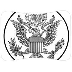 Black & White Great Seal Of The United States - Obverse  Velour Seat Head Rest Cushion by abbeyz71