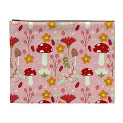 Floral Surface Pattern Design Cosmetic Bag (xl)