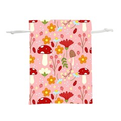 Floral Surface Pattern Design Lightweight Drawstring Pouch (m)