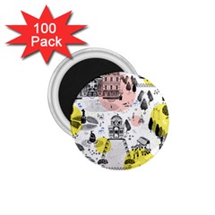 The Park  Pattern Design 1 75  Magnets (100 Pack)