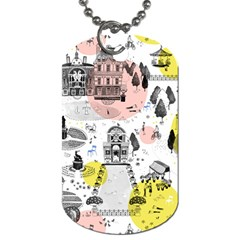 The Park  Pattern Design Dog Tag (two Sides)