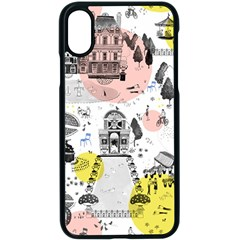 The Park  Pattern Design Iphone X Seamless Case (black)