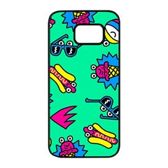 Pattern Adweeksummer Samsung Galaxy S7 Edge Black Seamless Case
