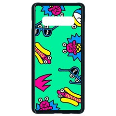 Pattern Adweeksummer Samsung Galaxy S10 Plus Seamless Case (black) by Sudhe