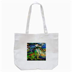 Artistic Nature Painting Tote Bag (white)