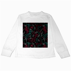 Abstract Pattern Kids Long Sleeve T Shirts