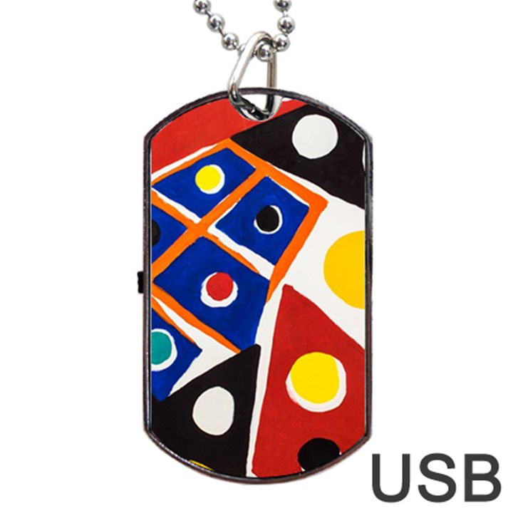 Pattern And Decoration Revisited At The East Side Galleries Dog Tag USB Flash (Two Sides)