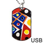 Pattern And Decoration Revisited At The East Side Galleries Dog Tag USB Flash (Two Sides) Back
