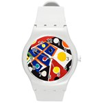 Pattern And Decoration Revisited At The East Side Galleries Round Plastic Sport Watch (M) Front
