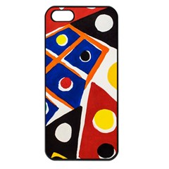 Pattern And Decoration Revisited At The East Side Galleries Iphone 5 Seamless Case (black)