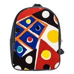 Pattern And Decoration Revisited At The East Side Galleries School Bag (XL) Front