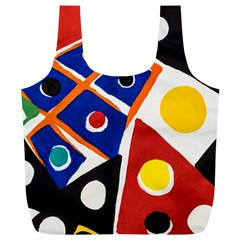 Pattern And Decoration Revisited At The East Side Galleries Full Print Recycle Bag (xl)
