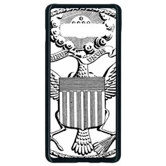 Black & White Great Seal Of The United States   Obverse, 1782 Samsung Galaxy S10 Plus Seamless Case (black) by abbeyz71