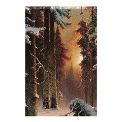 Sunset In The Frozen Winter Forest Shower Curtain 48  X 72  (small)