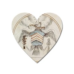 Great Seal Of The United States Drawing, 1782 Heart Magnet by abbeyz71