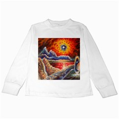 Sci Fi  Landscape Painting Kids Long Sleeve T Shirts