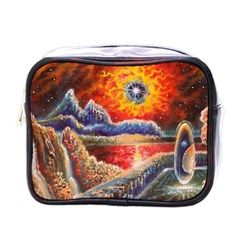 Sci Fi  Landscape Painting Mini Toiletries Bag (one Side) by Sudhe