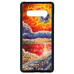 Sci Fi  Landscape Painting Samsung Galaxy S10 Plus Seamless Case (black) by Sudhe