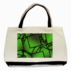 Binary Digitization Null Green Basic Tote Bag