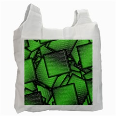 Binary Digitization Null Green Recycle Bag (two Side)