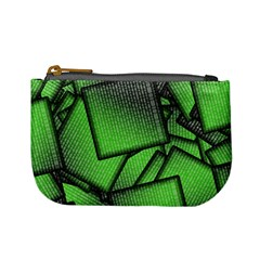 Binary Digitization Null Green Mini Coin Purse by HermanTelo