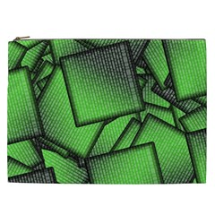 Binary Digitization Null Green Cosmetic Bag (xxl) by HermanTelo