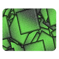 Binary Digitization Null Green Double Sided Flano Blanket (large)