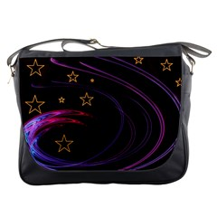 Background Abstract Star Messenger Bag