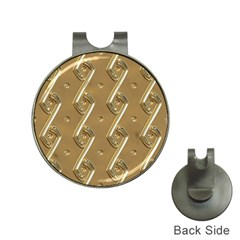 Gold Background 3d Hat Clips With Golf Markers