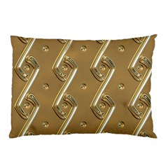 Gold Background 3d Pillow Case (two Sides)