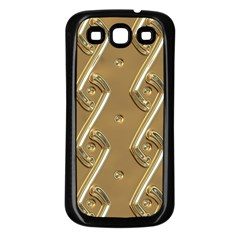 Gold Background 3d Samsung Galaxy S3 Back Case (black)
