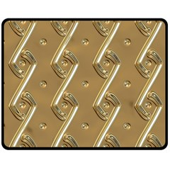 Gold Background 3d Double Sided Fleece Blanket (medium)