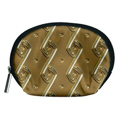 Gold Background 3d Accessory Pouch (medium)