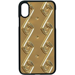 Gold Background 3d Iphone X Seamless Case (black)